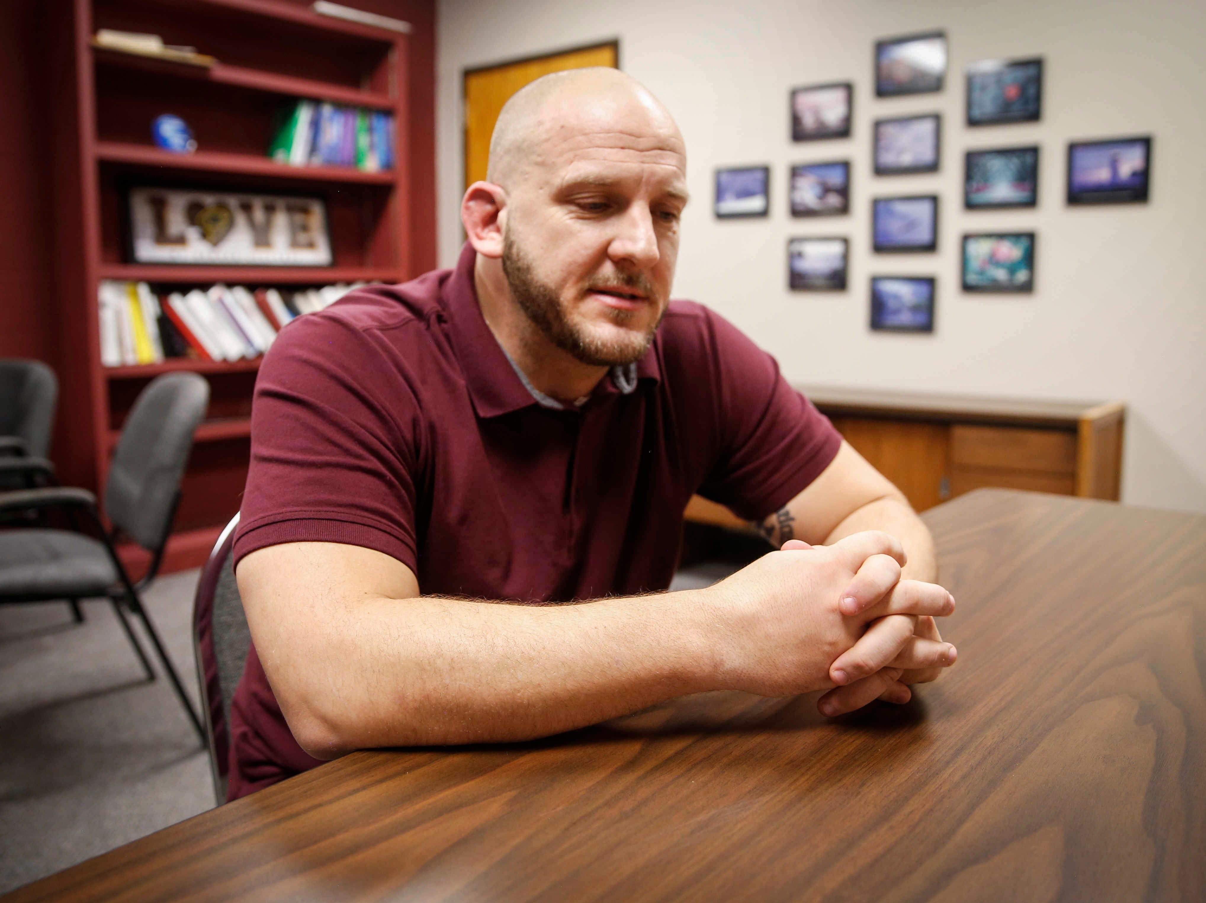 Chris Krueger, head wrestling coach at Denver High School and father of sophomore Cam Krueger, talks about the adversities his son has overcome in the sport of wrestling and in life. Cam, who was born legally blind, has forged a passion for lifting weights and wrestling.