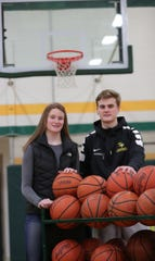 Twins Julia and Joe Ayrault are both seniors on their Grosse Pointe North basketball teams.