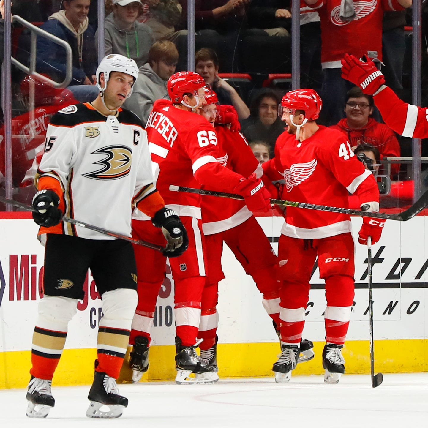Thomas Vanek sparked the Detroit Red Wings. Here's what he said