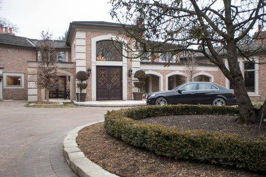 This home on Kewsick Road in Bloomfield Hills is more than 8,000 square feet and surrounded by French gardens.