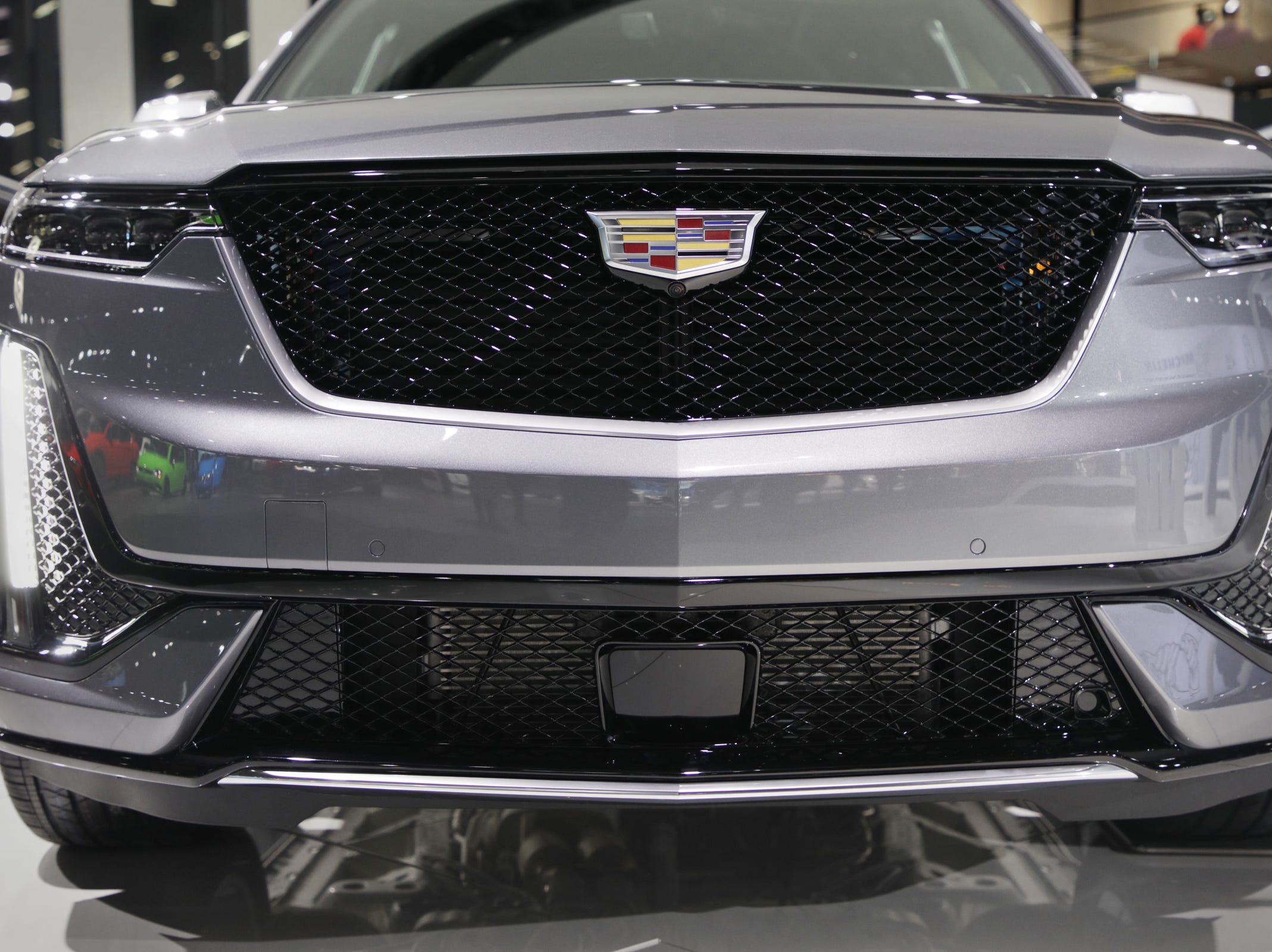 The 2020 Cadillac XT6 Sport at the 2019 North American International Auto Show held at Cobo Center in downtown Detroit on Monday, Jan. 14, 2019.