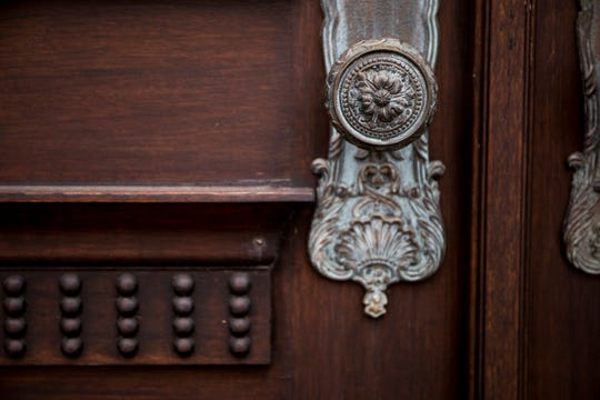 A decorative doorknob shows this home's attention to detail.