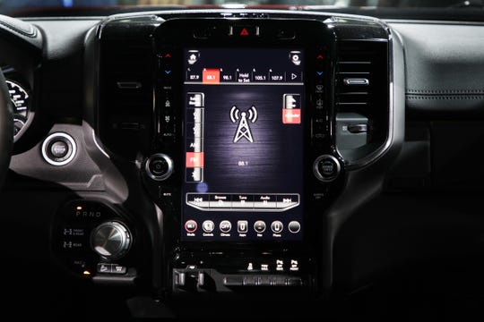 The 2019 RAM 2500 Power Wagon infotainment at the 2019 North American International Auto Show held at Cobo Center in downtown Detroit on Monday, Jan. 14, 2019.