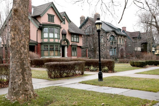 Historic Indian Village on Detroit's east side is one of Detroit's upscale neighborhoods, where home values run high and blight is minimal.