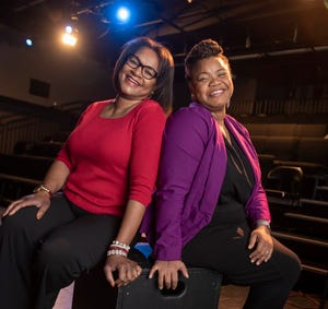 Mosaic Youth Theatre of Detroit executive director Stephanie Worth, left, and artistic director DeLashea Strawder are the new creative forces behind the theater.