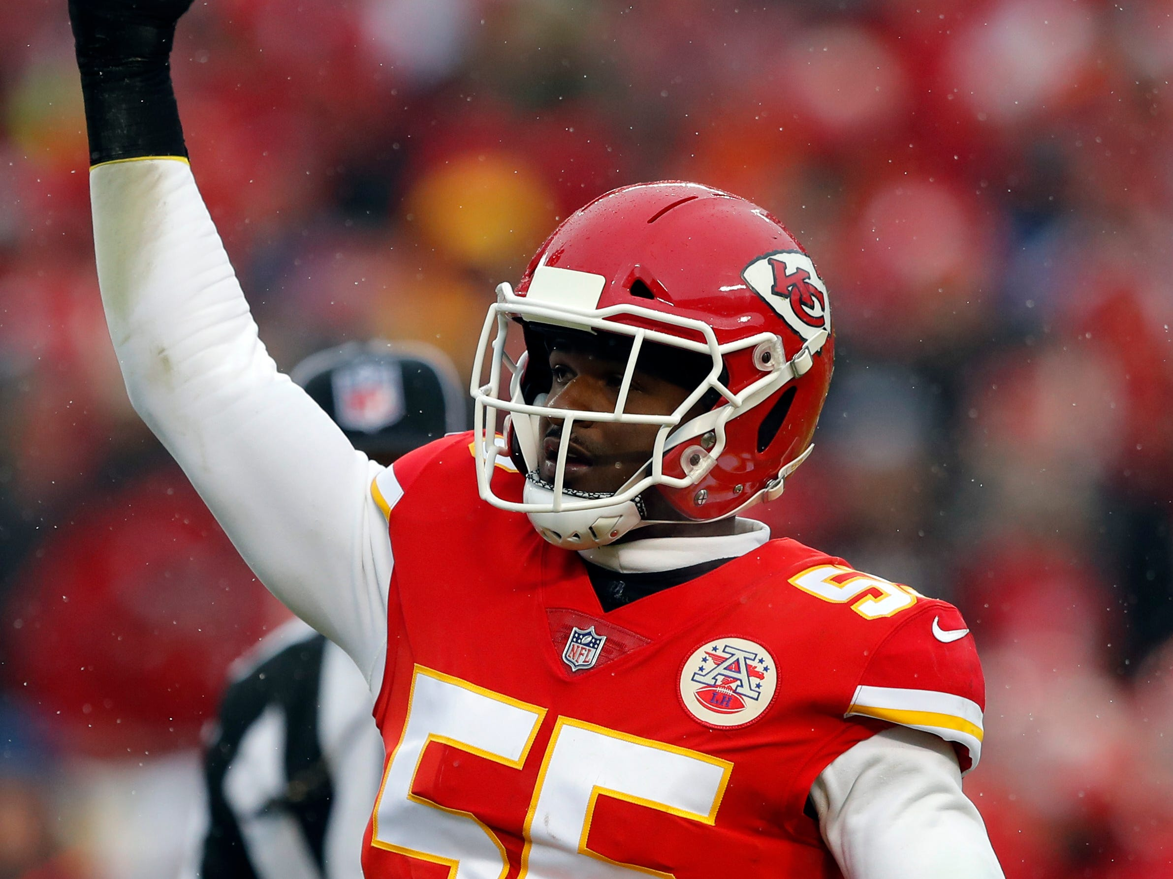 Dee Ford, LB, Kansas City: Ford might be the most productive pass rusher on the market, hitting double-digit sacks for the second time in three seasons in 2018, while his 77 pressures were the most of any edge defender. At 252 pounds, he's not as stout against the run, and there would be some positional overlap with Devon Kennard.