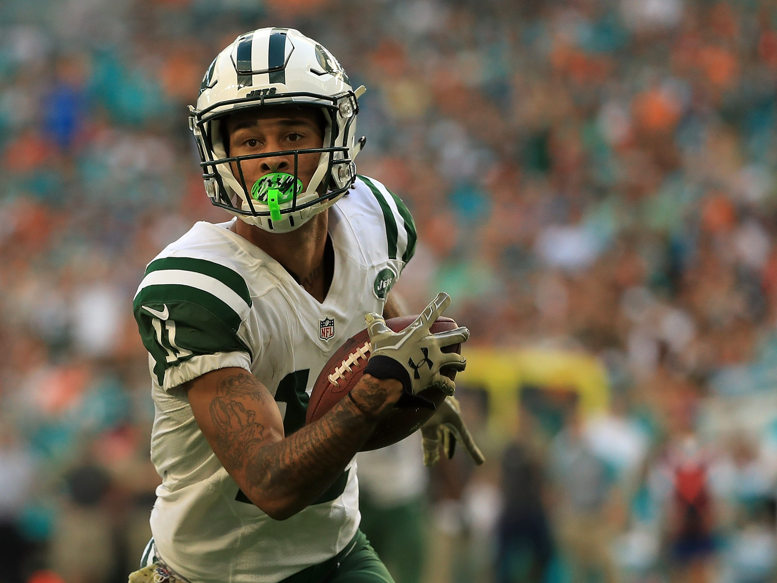 Robby Anderson, WR, New York Jets: There are off-field issues to consider with Anderson, but between the white lines, he's a big-play threat on the outside. Anderson has averaged 14.7 yards per reception during his three seasons with the Jets and he's had a catch of 25 yards or longer in 21 of his 46 games.