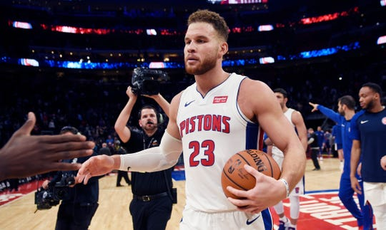 Pistons forward Blake Griffin received a grade of  A- from beat reporter Rod Beard in his midseason report.