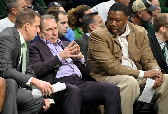 Assistants Dane Fife (left) and Dwayne Stephens (right) would be logical candidates to succeed Michigan State head coach Tom Izzo.