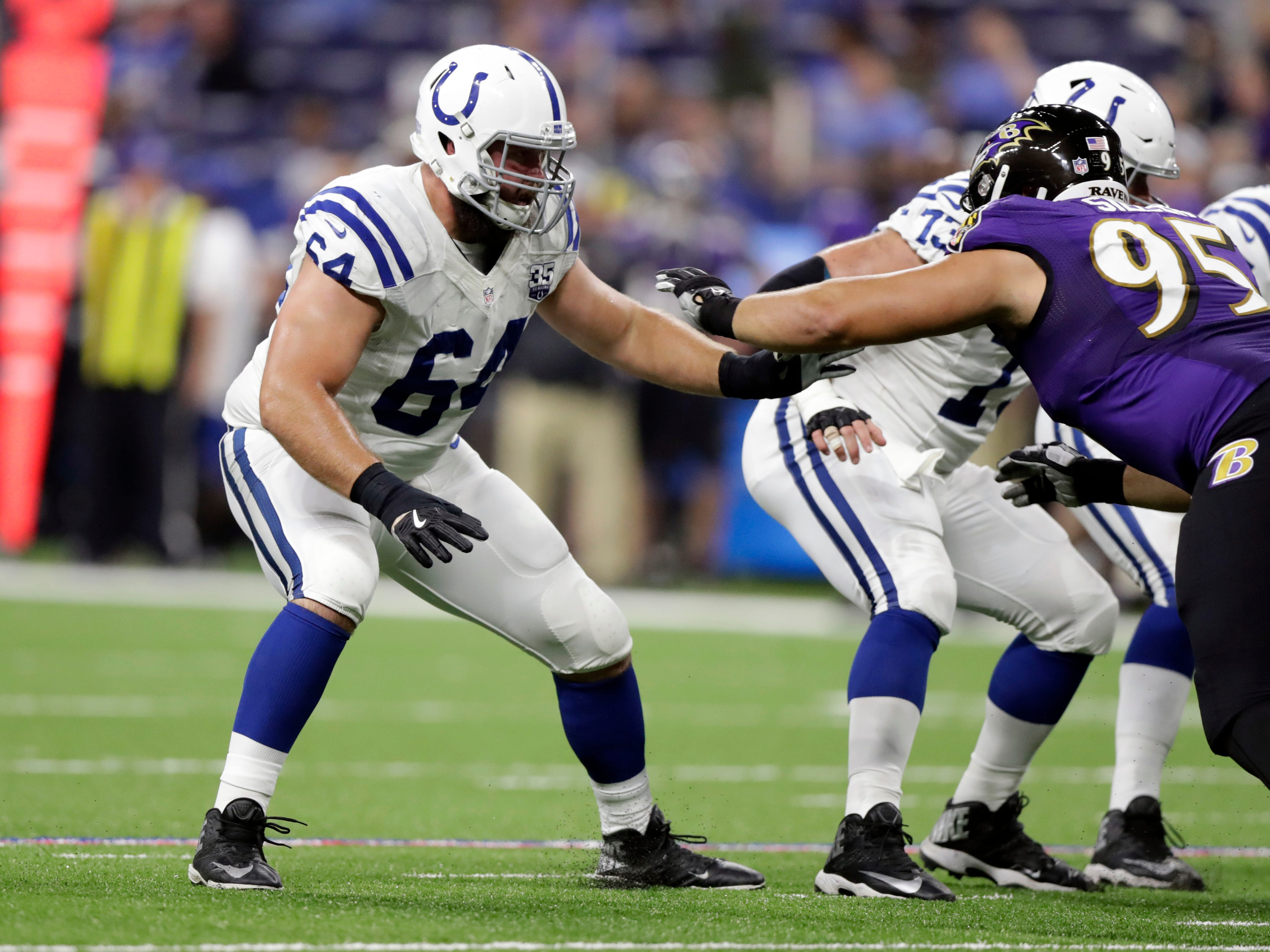 Mark Glowinski, G, Indianapolis: Seattle ran out of patience with the former fourth-round pick, but Glowinski delivered a solid performance for the Colts in 2018, allowing just 11 pressures and no sacks in 11 games (nine starts).