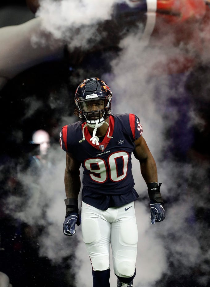 Go through the gallery to view the top 30 free-agent targets for the Lions, according to Justin Rogers of The Detroit News, including Houston's Jadeveon Clowney (pictured).
