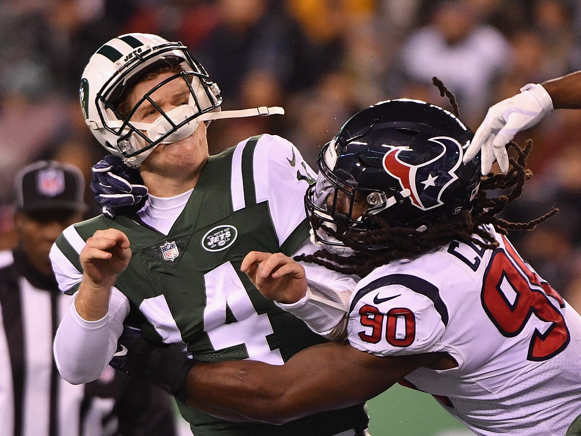 Jadeveon Clowney, DE/OLB, Houston: The former No. 1 pick comes with plenty of concerns about his durability, but he's only missed three games the past three years. The athleticism is still off the charts, and at 25, he's just entering his prime. He's recorded at least nine sacks each of the past two seasons, with 59 and 64 pressures those two seasons.