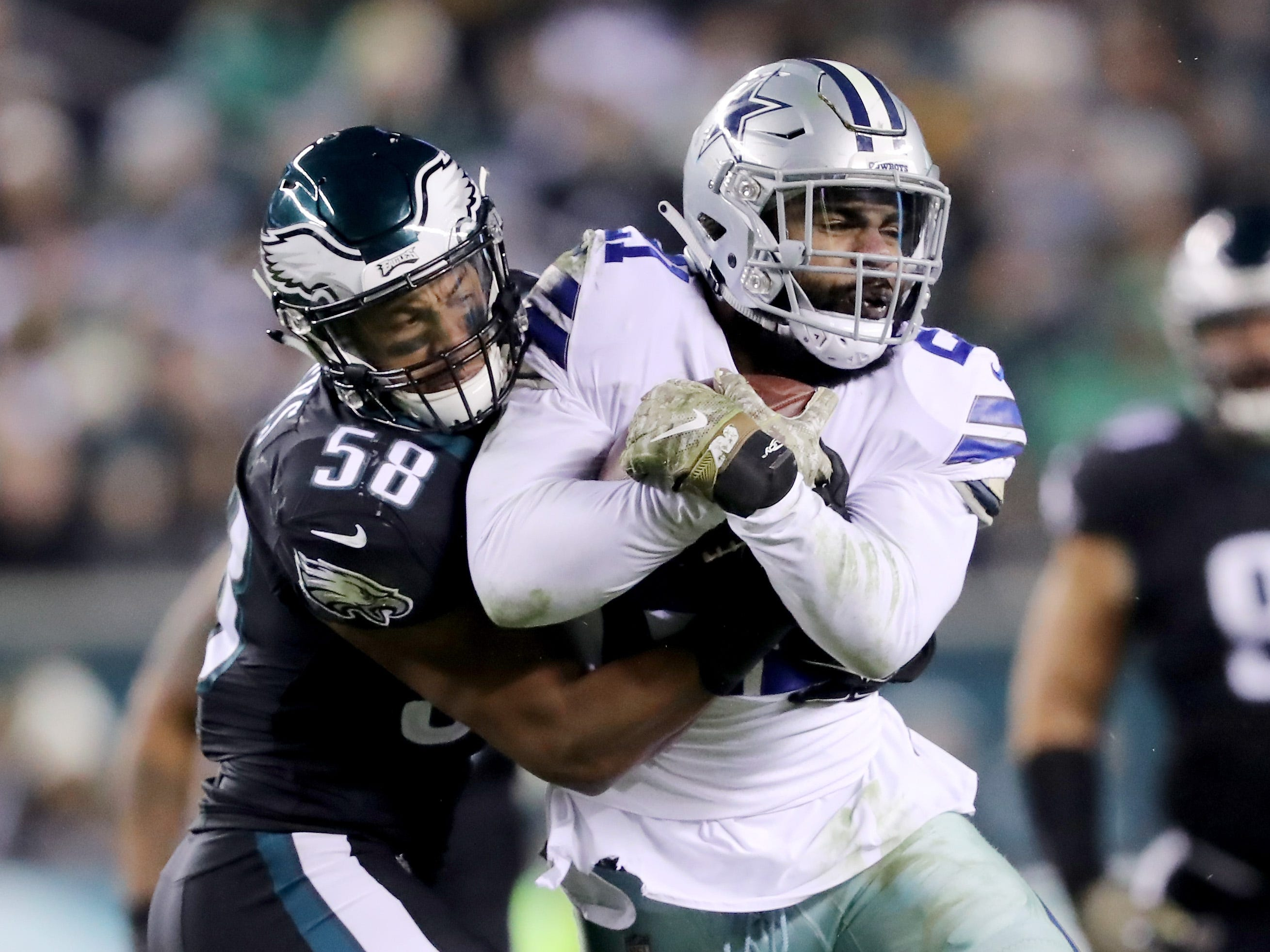 Jordan Hicks, LB, Philadelphia: If it wasn't for his injury history, Hicks would be in the conversation as one of the NFL's best inside linebackers. He's shown the ability to cover, with seven interceptions in 43 career games, as well as outstanding pursuit angles and tackling skills when defending the run. The durability issues can't be ignored, though. He's missed at least four games in three of his four seasons, including last year.
