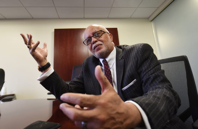Wayne County Executive Warren Evans speaks about his first term in office on Wednesday as he plans for the next four years as executive.