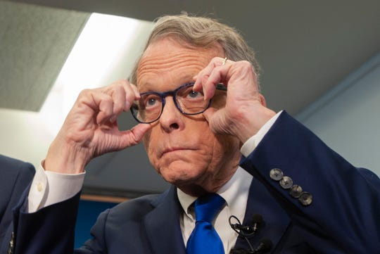 Ohio Gov. Mike DeWine comment on the automotive industry as it pertains to Ohioans after touring the show floor at the North American International Auto Show at Cobo Center in Detroit on Wednesday, January 16, 2019.