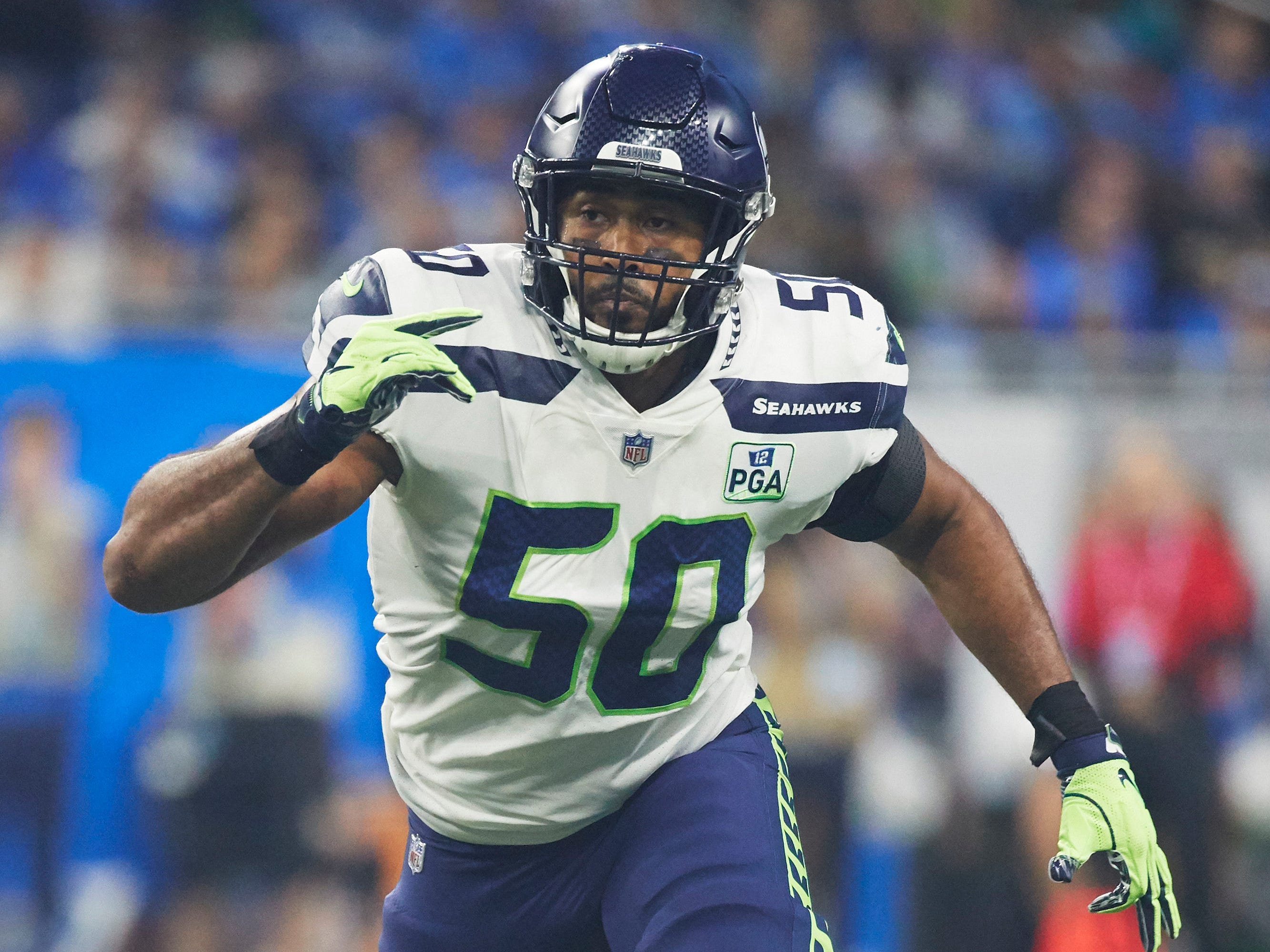 K.J. Wright, LB, Seattle: Wright's biggest knock is his age. He'll be 30 by the start of training camp. But the highly instinctual linebacker would provide a significant upgrade to Detroit's second level. He missed significant time last season with a knee injury, which he aggravated late in the year. That will need to pass medical testing, but four straight seasons of 100-plus tackles before last speak to his productivity.