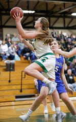 Laconia High School senior Alissa Dins leads the team with 190 rebounds this season. She committed to Division I Western Illinois.