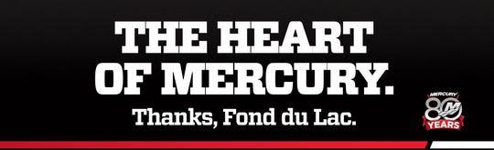 Billboards will go up around the city to celebrate Mercury Marine's 80th anniversary and thank the community.