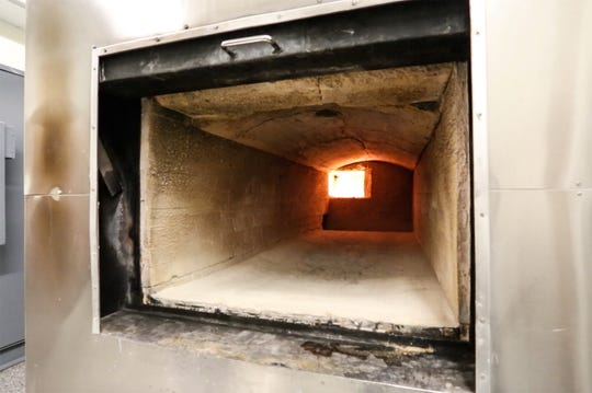 A view inside a cremation oven Friday, December 21, 2018 at Uecker-Witt Funeral Home in Fond du Lac, Wisconsin. Doug Raflik/USA TODAY NETWORK-Wisconsin
