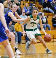 Kiarra Otto is a Division I-caliber player, coach Chris Morgan said. She and forward Alissa Dins have been on the Laconia varsity team since freshman year.