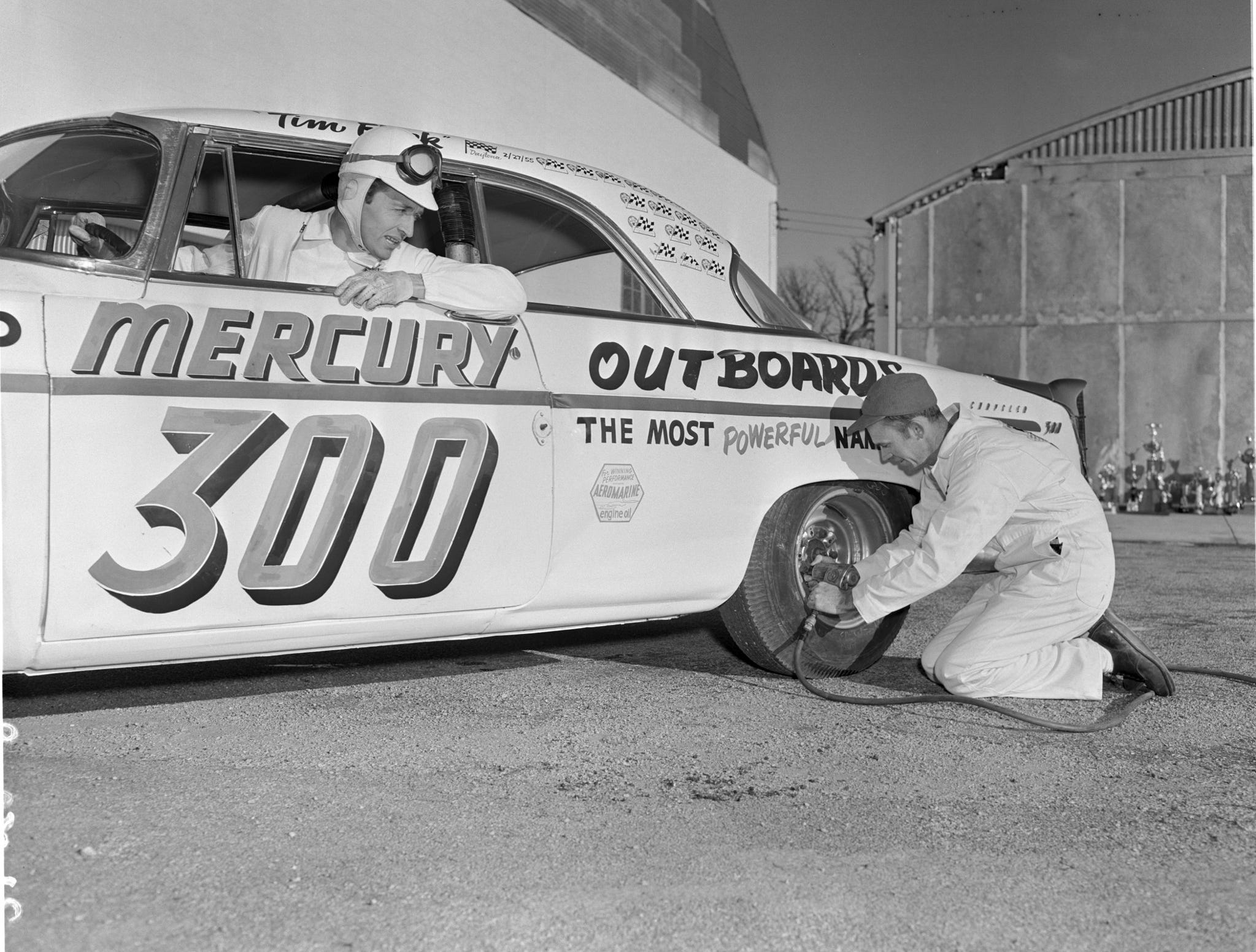 In the 1950s, Carl Kiekhaefer started a NASCAR team to display Mercury product. Competing for two years, his team won the NASCAR Grand National championship twice.