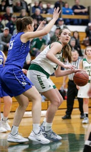 Laconia senior Alissa Dins started on the varsity girls basketball program as a freshman. After an undefeated senior season, Dins and her team are moving on to their first WIAA state girls basketball tournament in school history.