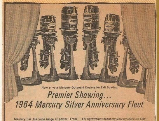 A 1960s' era ad for Mercury's 1964 fleet.