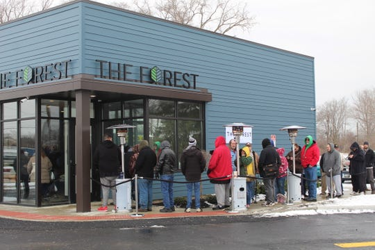 Ohio dispensaries reported lines and a steady flow of customers on opening day.