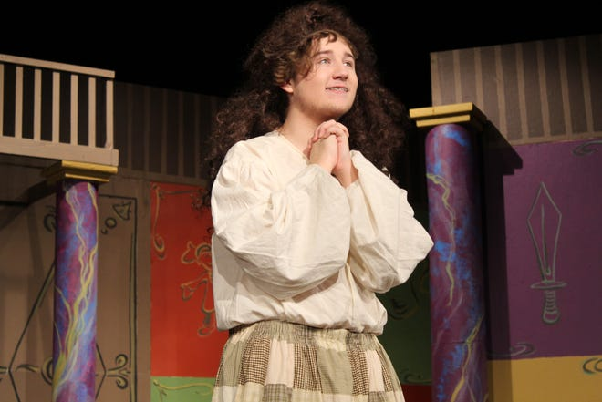 """Jacob Wylykanowitz will appear in the Fremont Community Theatre's upcoming production """"The Complete Works of William Shakespeare (Abridged)."""" The production opens Friday at FCT."""