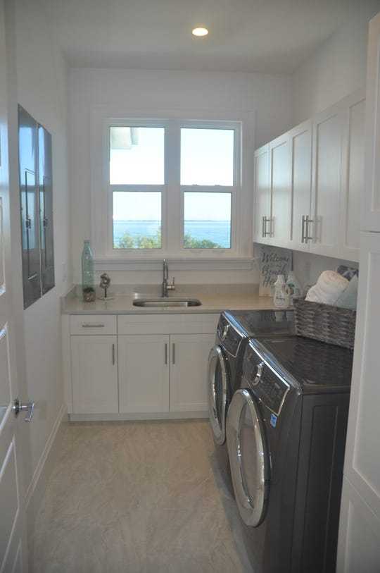Even the laundry room has views.