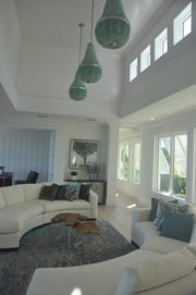 Designer Tia Farhat said her favorite feature is the sea glass chandeliers.