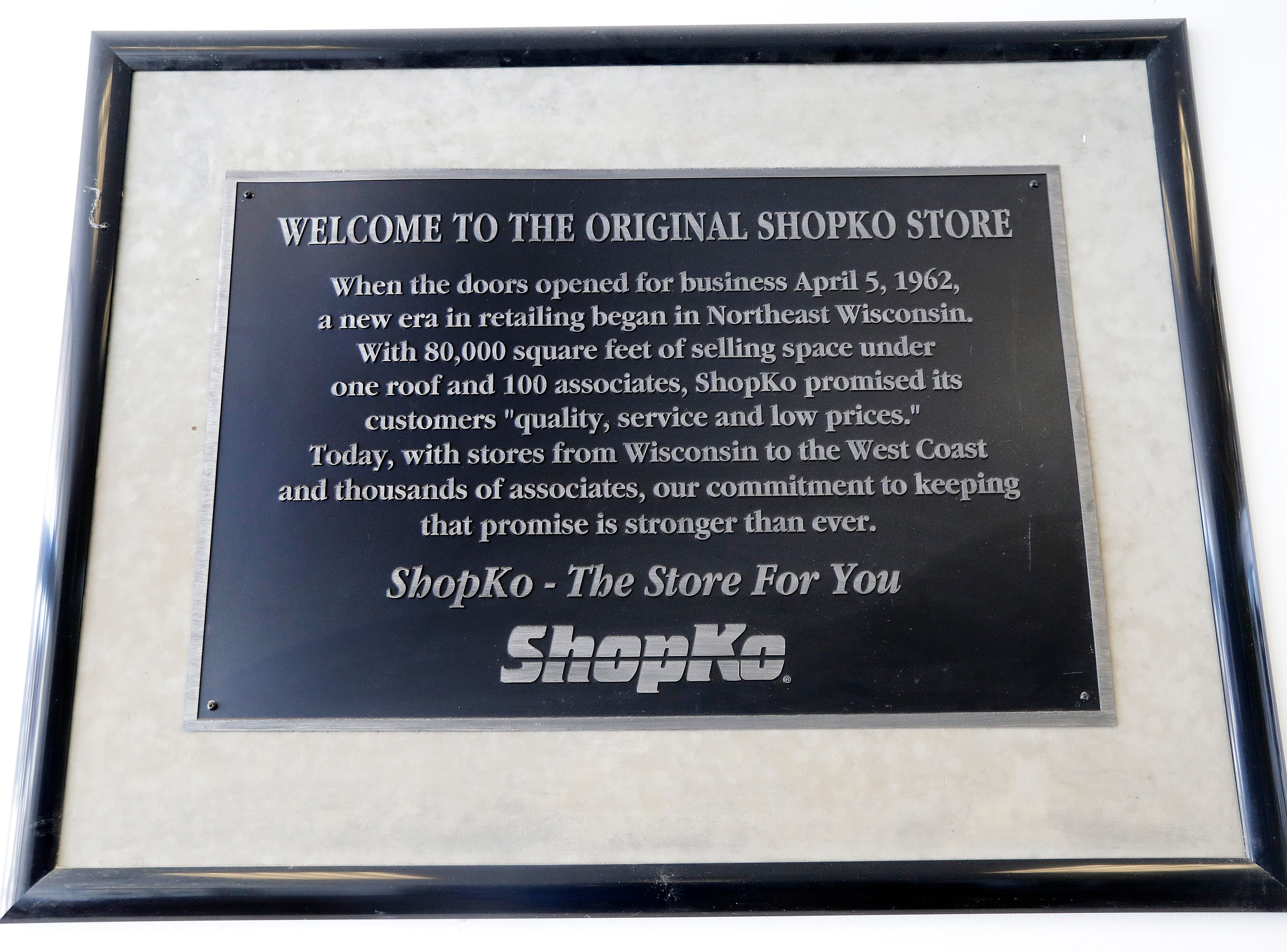 A sign by the entrance of the original Shopko store is shown on Wednesday, January 16, 2019 in Green Bay, Wis. Shopko filed for chapter 11 bankruptcy on Wednesday and announced it will close 105 stores, including the company's original store on Military Ave in Green Bay.
