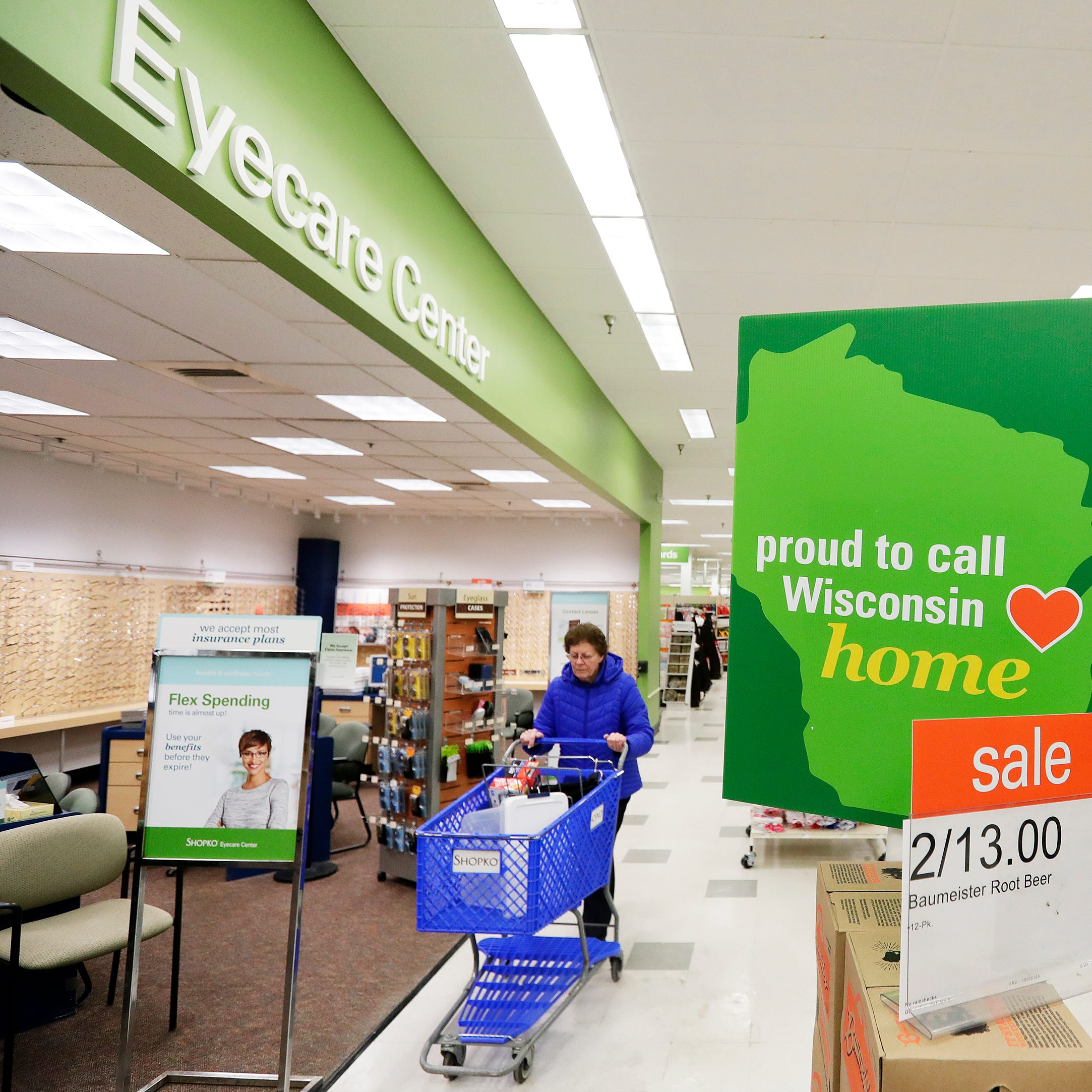 Shopko optical: Sole bid would run 42 Wisconsin stores; sale up for judge's approval Thursday