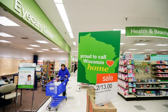 Customers shop at the original Shopko store on Wednesday, January 16, 2019 in Green Bay, Wis. Shopko filed for chapter 11 bankruptcy on Wednesday and announced it will close 105 stores, including the company's original store on Military Ave in Green Bay.