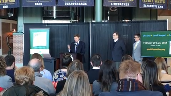 Mark Murphy, president and CEO of the Green Bay Packers, talks about Give BIG Green Bay 2019, which will benefit 40 local nonprofits.
