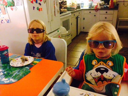 Cool girls in sunglasses, 2016.