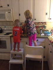 Making their own lunches, 2016.