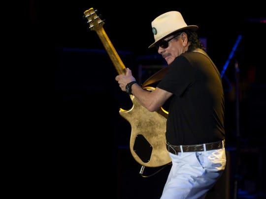 Carlos Santana will perform Aug. 9 at Ruoff Home Mortgage Music Center.
