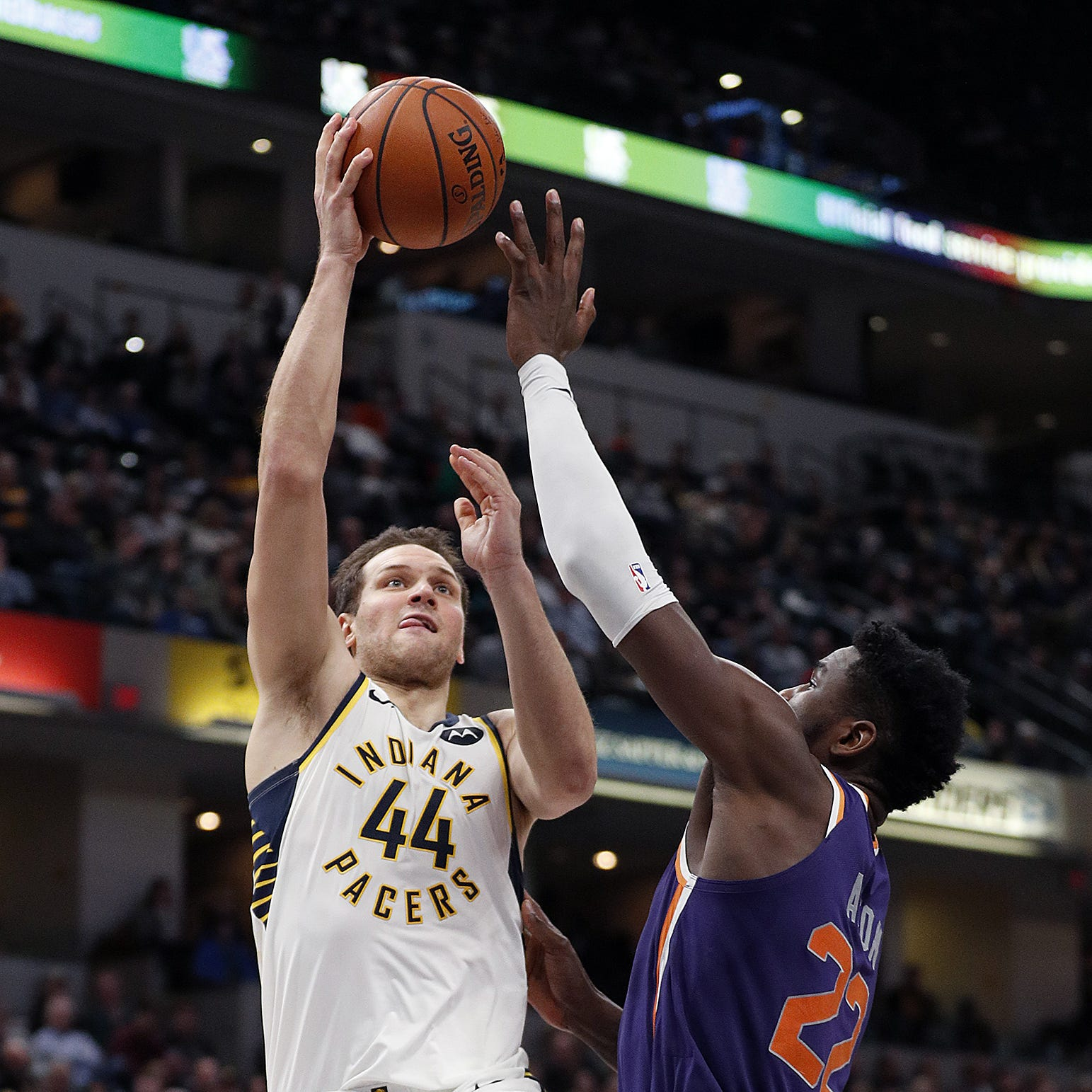 Myles Turner returns, Pacers' defense smothers Suns to sweep season series