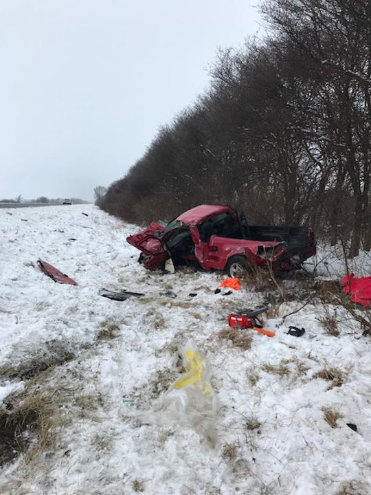 A crash Tuesday closed all westbound lanes of I-74 near Ind. 75 in Jamestown. It also closed all eastbound lanes of I-74 near Ind. 32 in the Crawfordsville area.