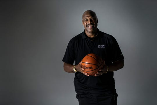 Carl Nicks, a pro scout for the Pacers, reflects on his time in Chicago, his time playing at Indiana State University with Larry Bird, and his life after basketball, IndyStar Studio, Indianapolis, Thursday, Jan. 10, 2019. On Jan. 19, he will have his jersey retired at ISU.