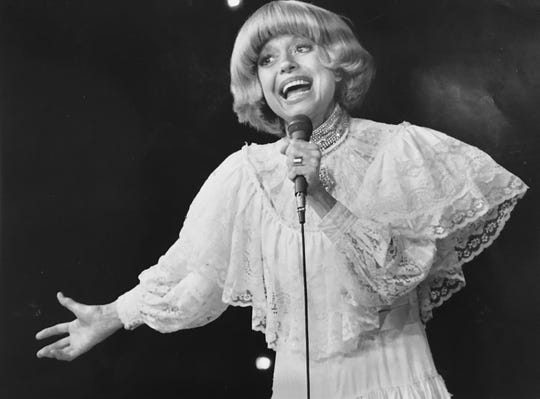 Carol Channing during a solo night club review at Beef & Boards Dinner Theatre in 1982.