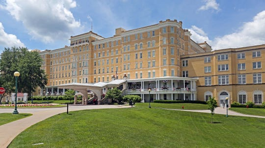 """Bonner and her boyfriend also received vouchers for marriage and family retreatsand an alternative horse riding therapy program. One of those retreats was a """"Warrior 2 Soul Mate"""" weekend at French Lick Resort, pictured. The resort features two historic hotels, a casino, golf courses, spas,a formal Japanese garden and it's own trolley."""