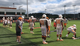 UT Athletic Director Phillip Fulmer was seen coaching the offensive line during the fall 2018 season in this video submitted to the News Sentinel.