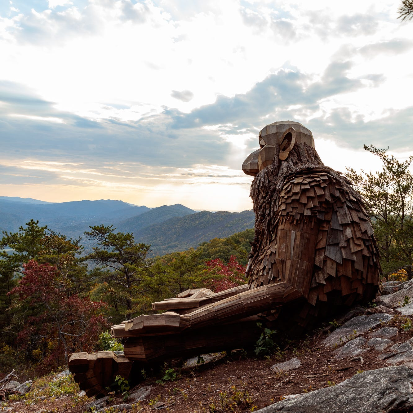 Meet 'Leo The Enlightened' — a spiritual troll sculpture towering high in the Smokies
