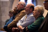 """A clip of attendees singing """"We Shall Overcome"""" at the annual MLK interfaith service Wednesday, Jan. 16, 2019"""
