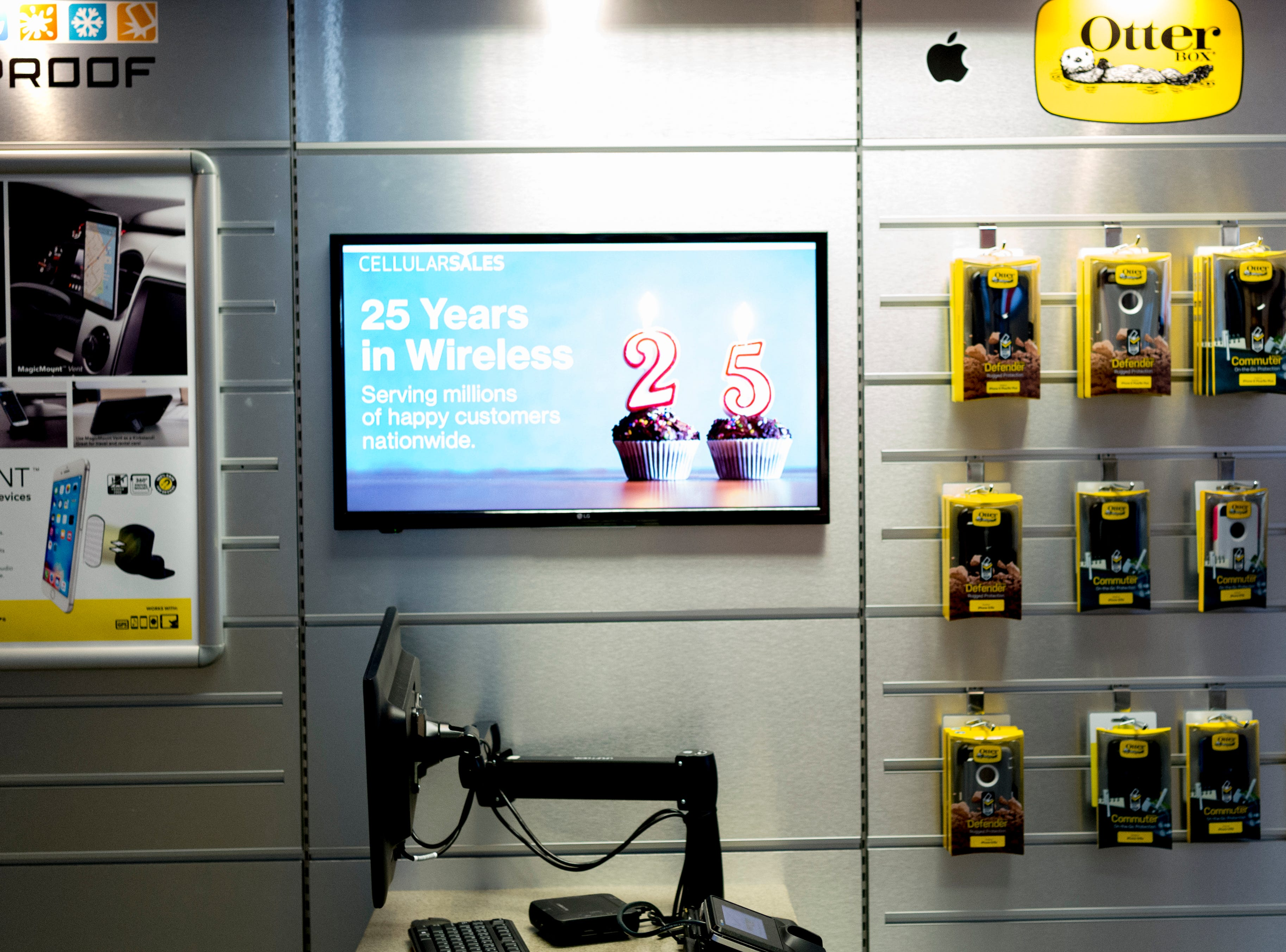 A sales computer in the mock setup of a Verizon Wireless retail store inside the Cellular Sales headquarters on 9040 Executive Park Drive in West Knoxville, Tennessee on Wednesday, January 16, 2019. An authorized agent of Verizon Wireless, Cellular Sales specializes in retail and support for over 700 of Verizon stores in 42 states.