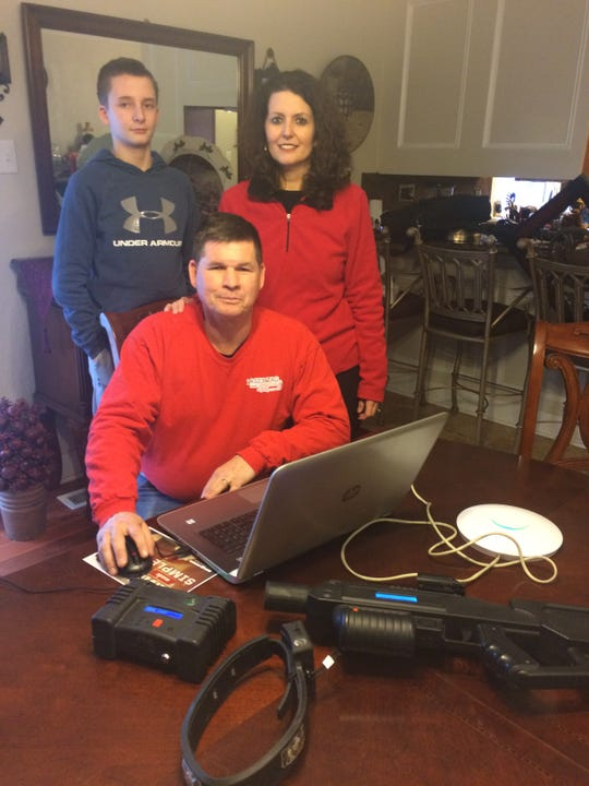 Robert Vogt, seated, his son Landon and wife Crystal have put together quite a family business.