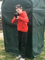 Landon Vogt sets his sights on the target.