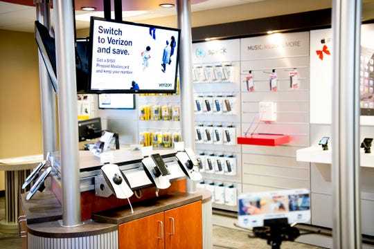 A mock setup of a Verizon Wireless retail store inside the Cellular Sales headquarters on 9040 Executive Park Drive in West Knoxville, Tennessee on Wednesday, January 16, 2019. An authorized agent of Verizon Wireless, Cellular Sales specializes in retail and support for over 700 of Verizon stores in 42 states.
